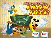 Mickey And Friends In Pillow Fight